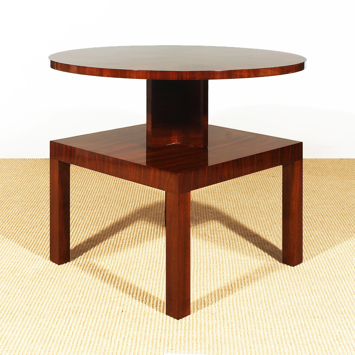 French Art Deco Cubist Side Table, 1930s for sale at Pamono