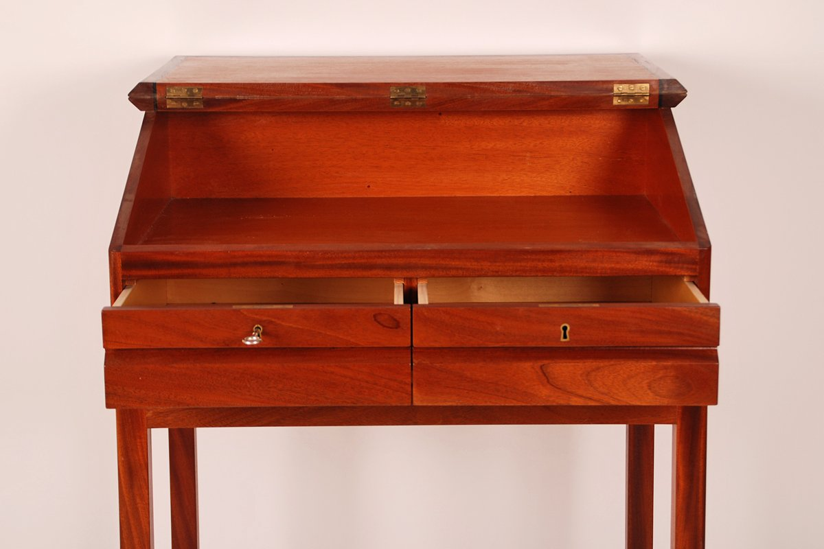 Mahogany Writing Desk ~ Danish mahogany writing desk for sale at pamono