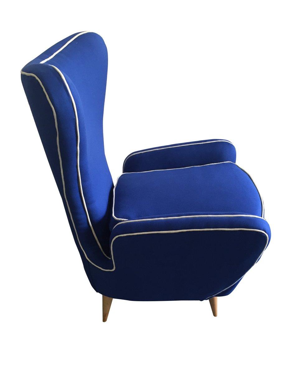 Geschwungene blaue sessel 2er set bei pamono kaufen for Sessel auf englisch