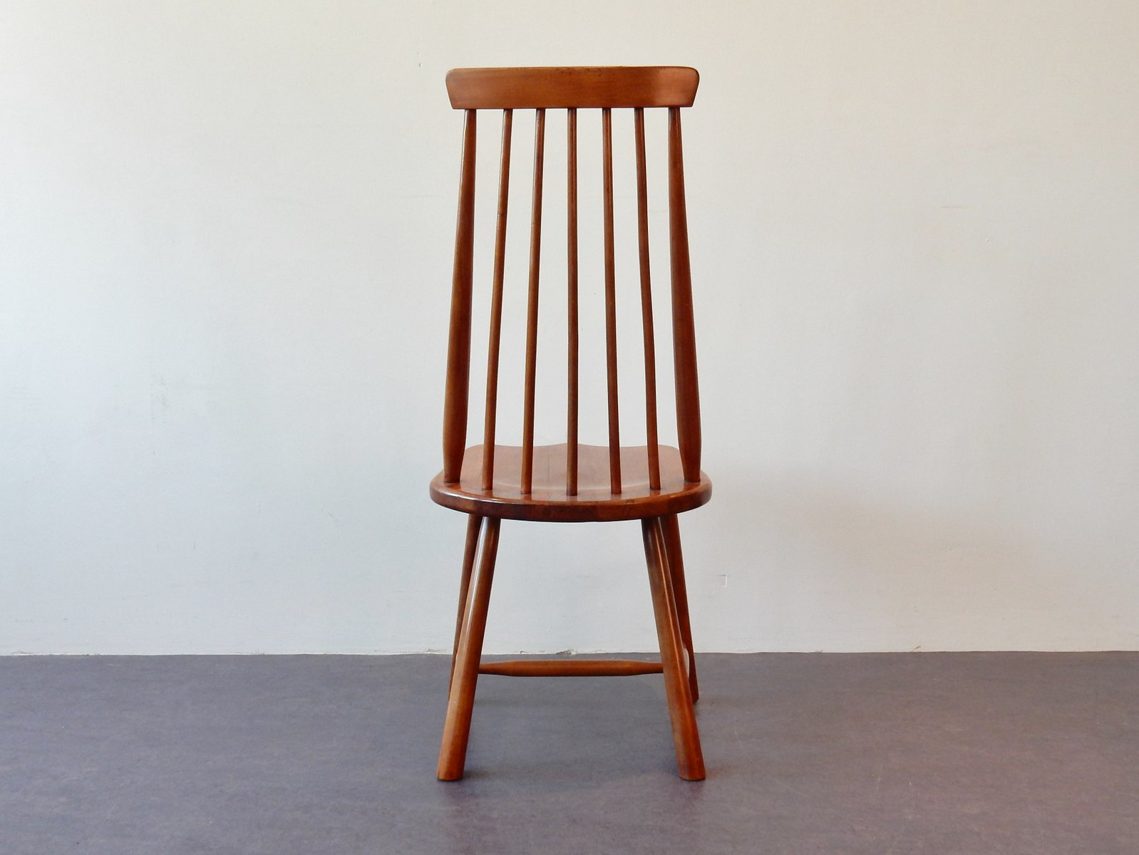 Vintage Solid Wooden Chairs Set Of 2 For Sale At Pamono