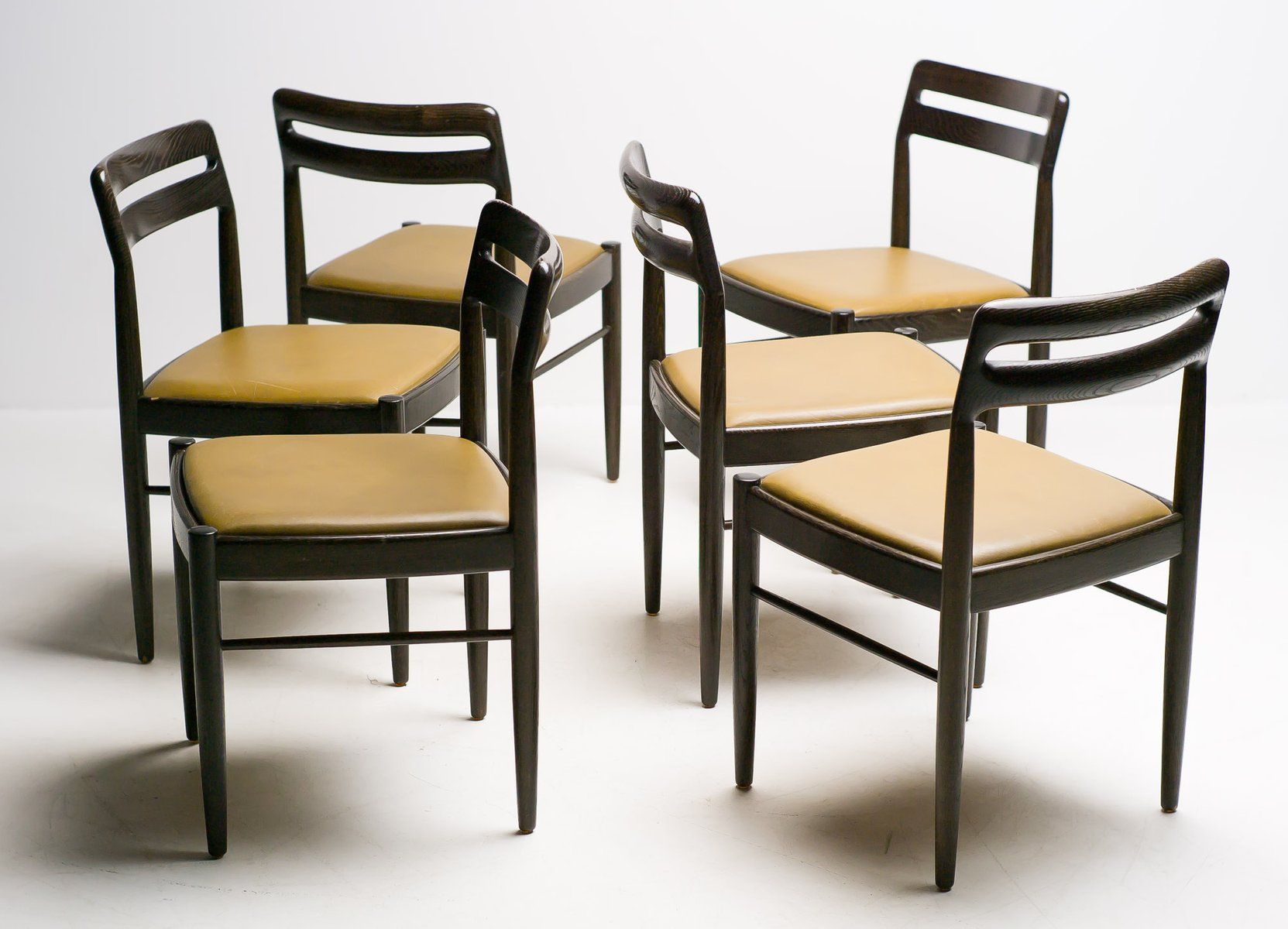 danish dining chairs by h w klein for bramin m bler 1970s set of 6