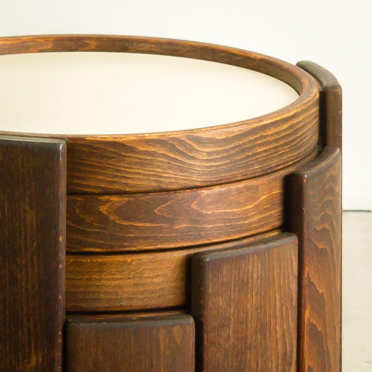 runde stapelbare tische von porada arredi 1970er 4er tisch bei pamono kaufen. Black Bedroom Furniture Sets. Home Design Ideas