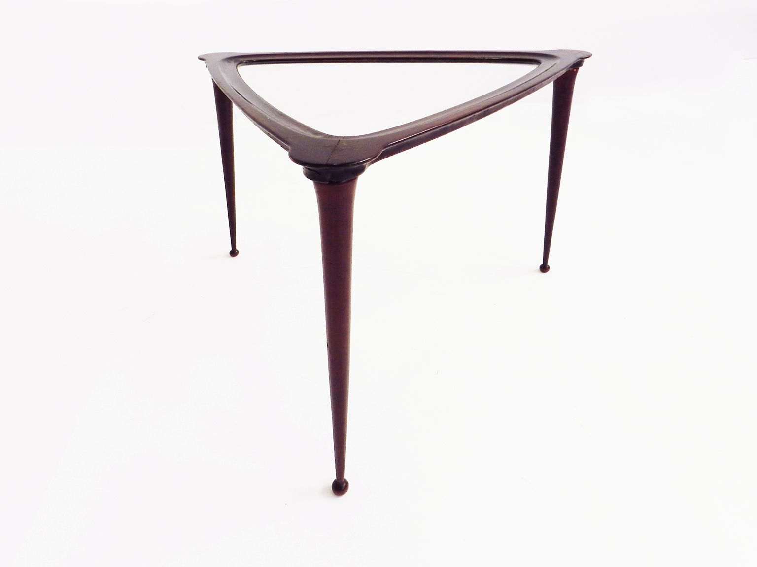 Italian black triangular side table for sale at pamono