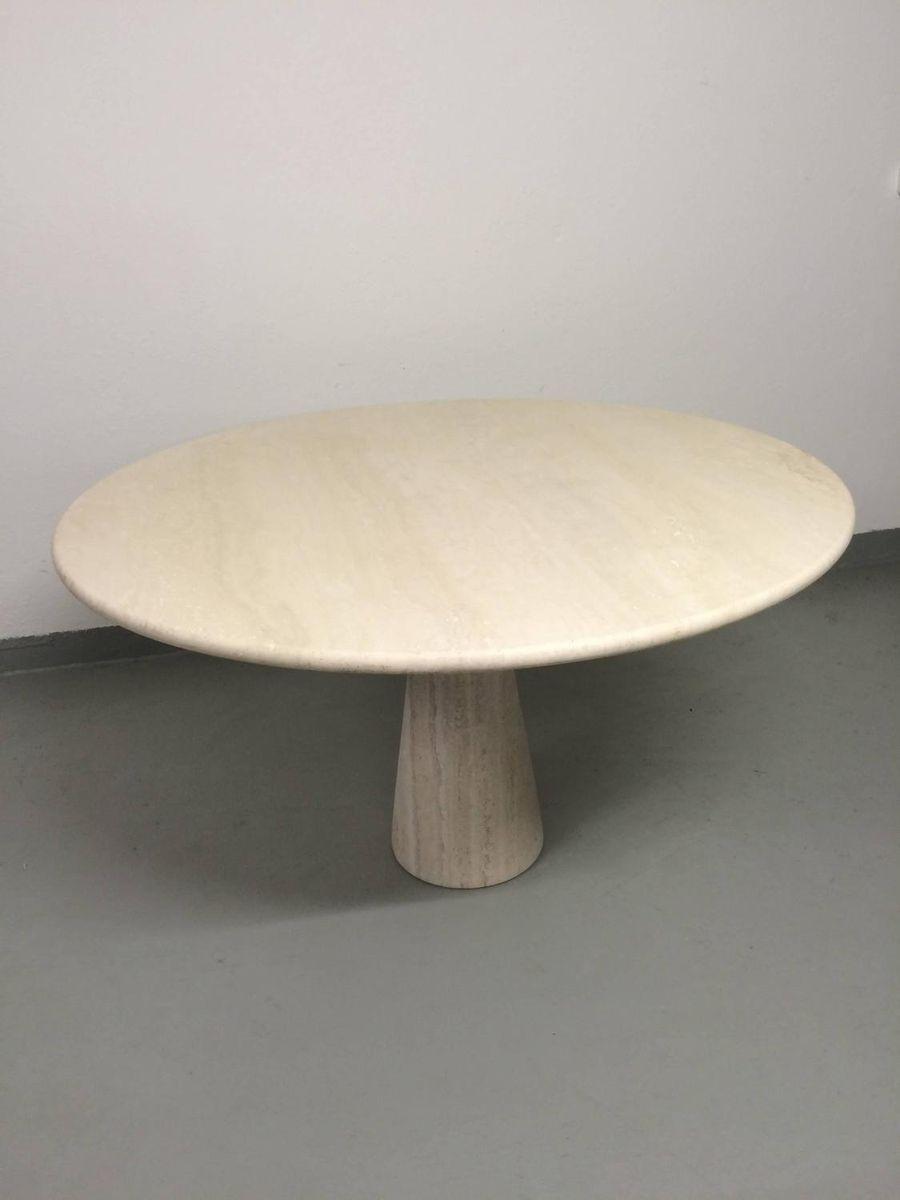 table de salle manger en travertin par angelo mangiarotti en vente sur pamono. Black Bedroom Furniture Sets. Home Design Ideas