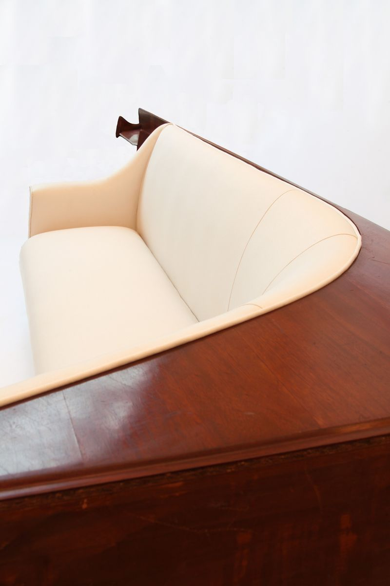 Vintage Curved Conversation Sofa And Shelves 1940s For
