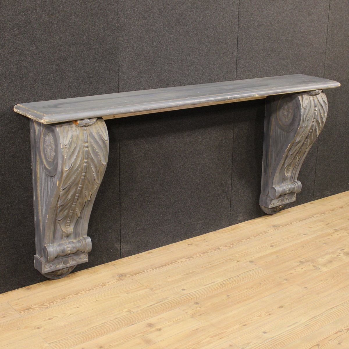 French lacquered and carved wood console table 1950s for sale at french lacquered and carved wood console table 1950s geotapseo Gallery
