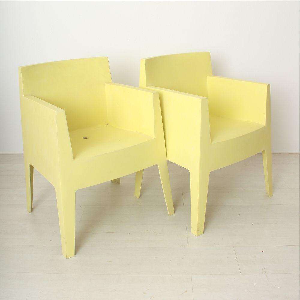 outdoor kunststoff st hle von phillippe starck 1960er 2er set bei pamono kaufen. Black Bedroom Furniture Sets. Home Design Ideas