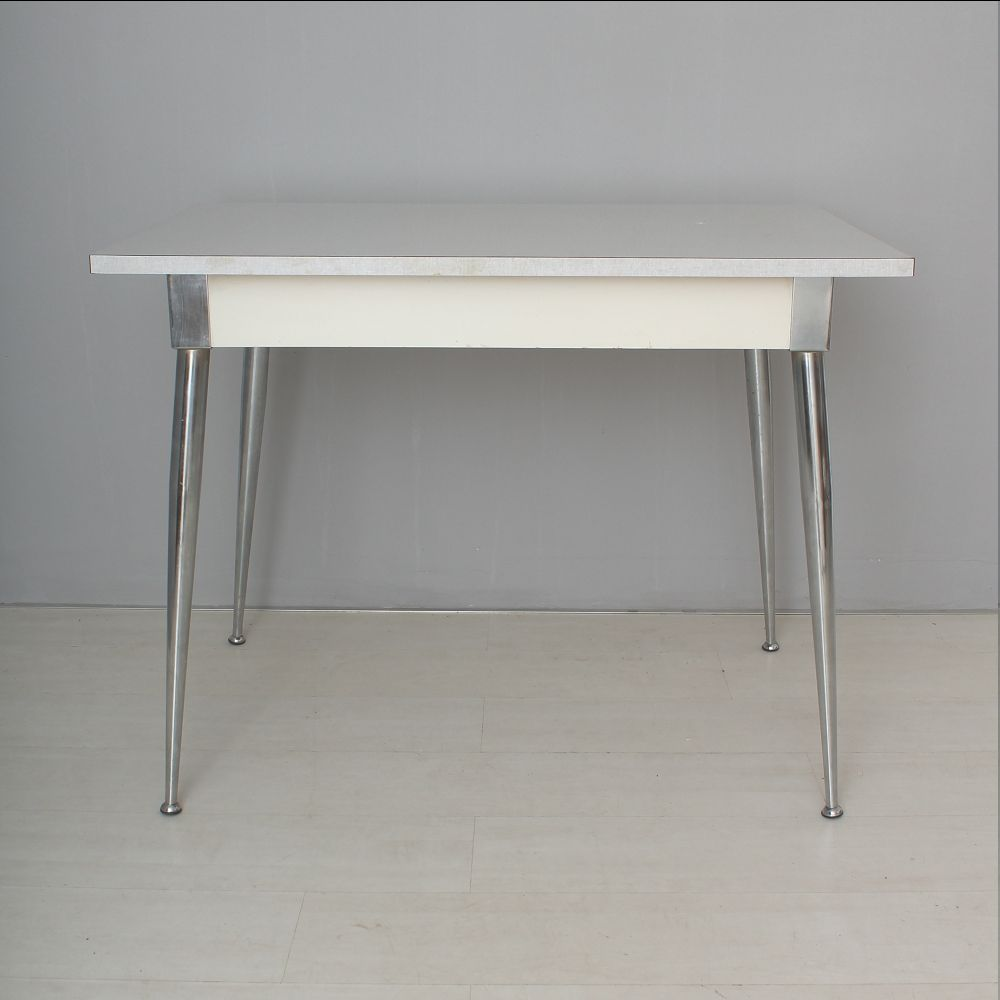 Metal Dining Table 1950s For Sale At Pamono