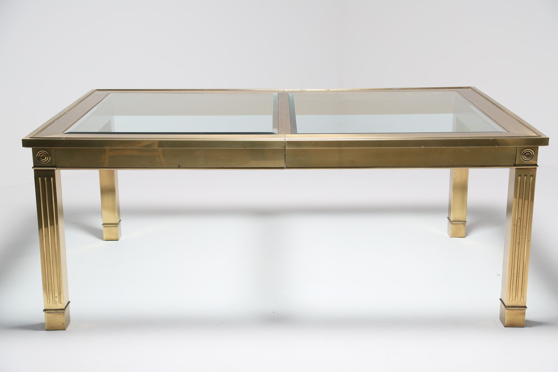 Mastercraft brass dining table - Extendable Brass Dining Table From Mastercraft