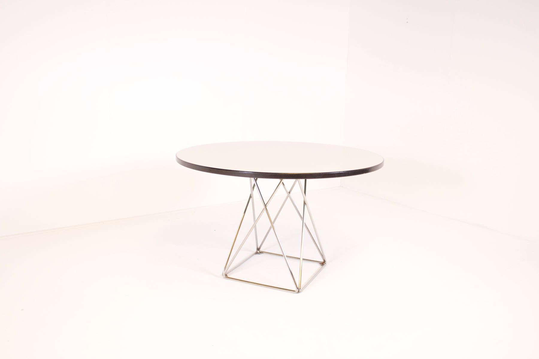 Austrian Formica And Chrome Dining Table From Thonet