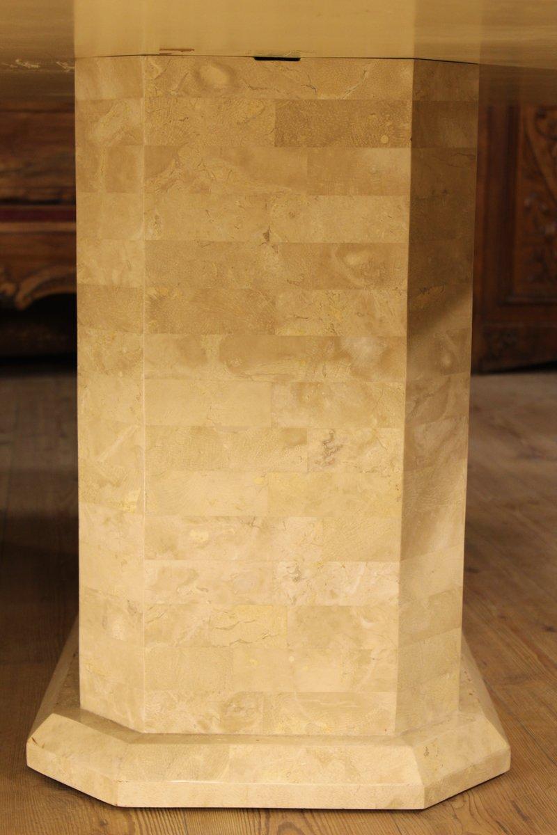 Table art d co en marbre et placage france 1950s en for Art et decoration france