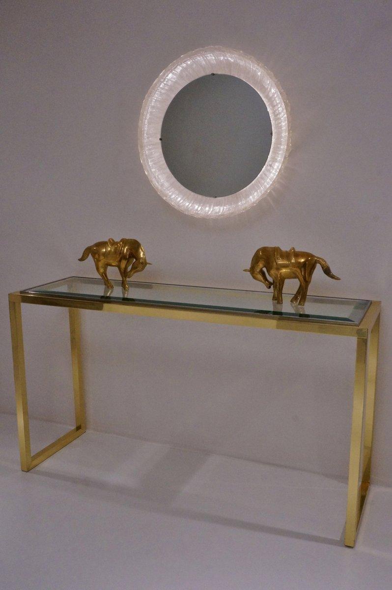 kreisrunder beleuchteter spiegel von hillebrand 1970er. Black Bedroom Furniture Sets. Home Design Ideas