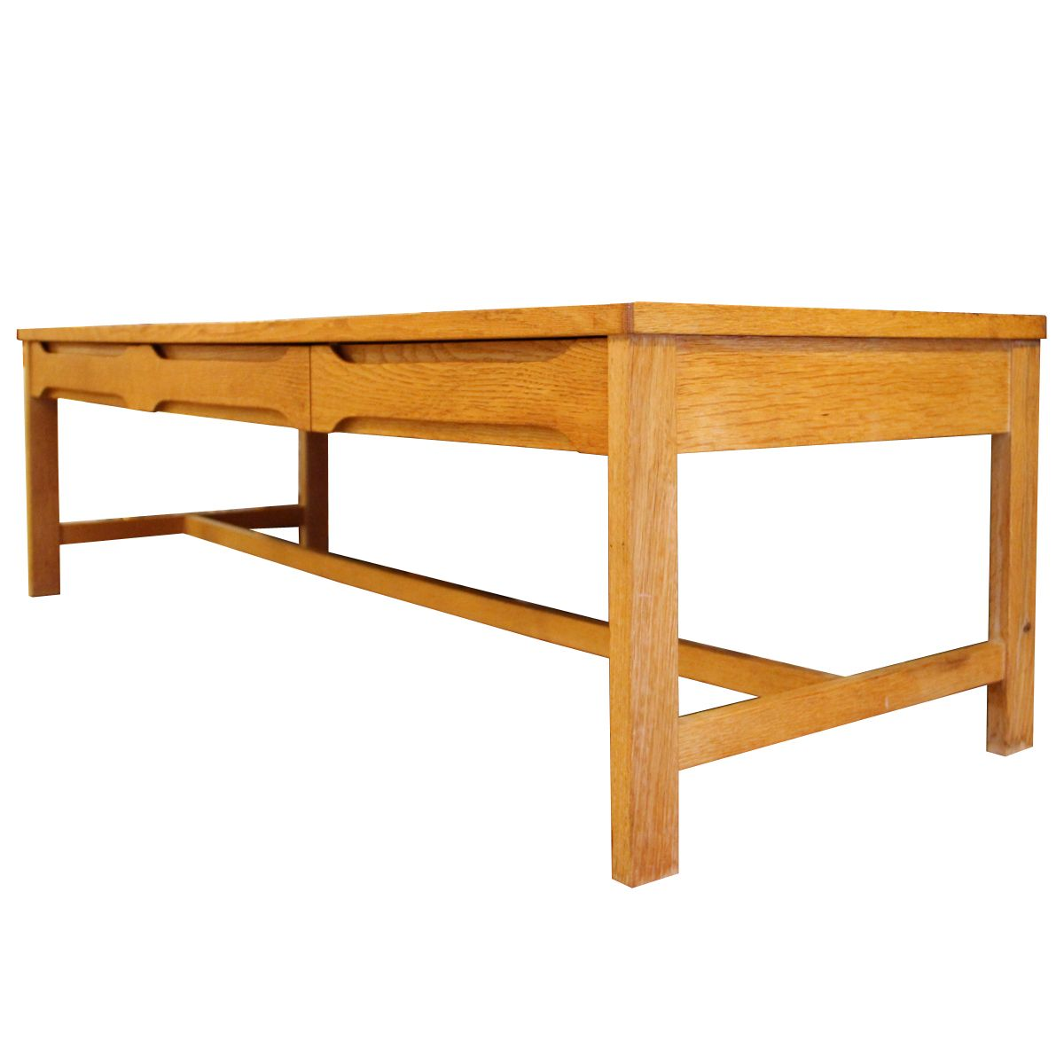low swedish oak side table with drawers for sale at pamono