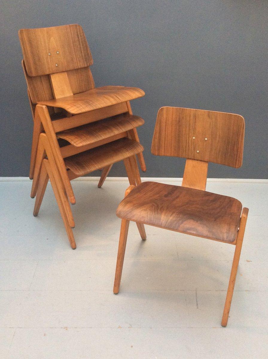 britische hillestak st hle von robin day f r hille 1950er 4er set bei pamono kaufen. Black Bedroom Furniture Sets. Home Design Ideas