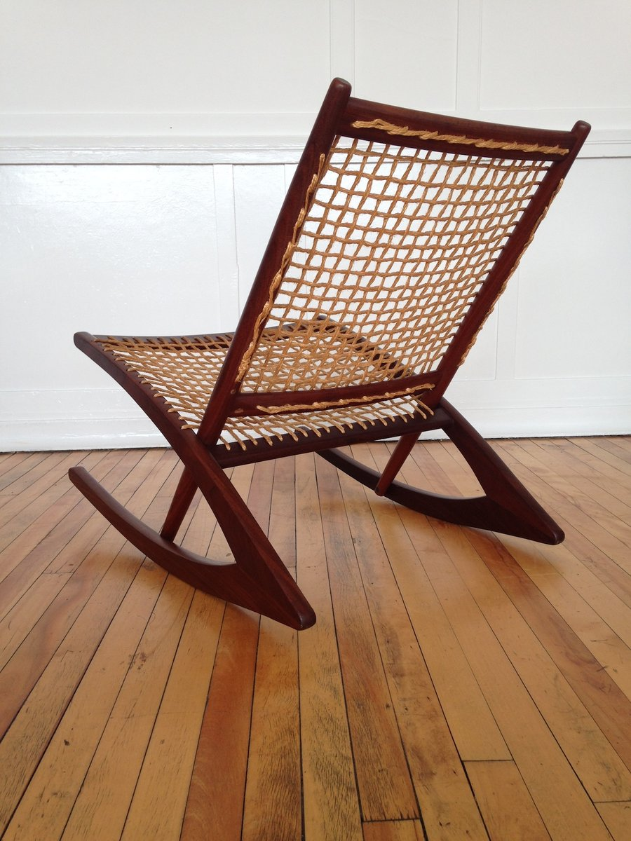 Norwegian Rocking Chair by Fredrik Kayser for Vatne Mobler for sale at Pamono
