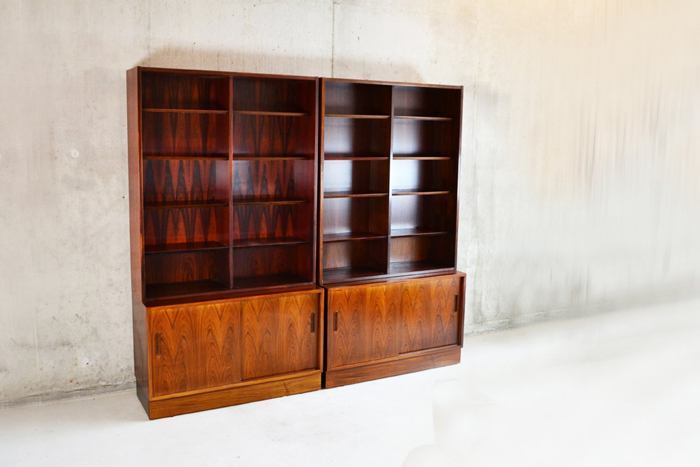 d nisches regal aus brasilianischem palisander von hundevad co 1960er 4er set bei pamono kaufen. Black Bedroom Furniture Sets. Home Design Ideas