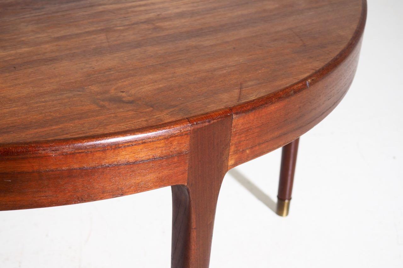 table basse en teck à 3 pieds, danemark, 1960s en vente sur pamono