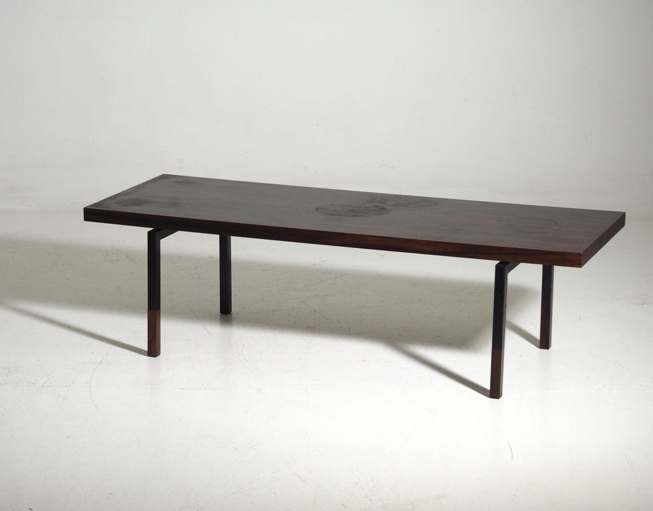 Danish Rosewood Steel Coffee Table 1960s For Sale At Pamono