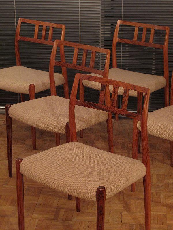 Vintage Model 79 Rosewood Dining Chairs By Niels O. Møller For J L Møllers,  Set Of 6