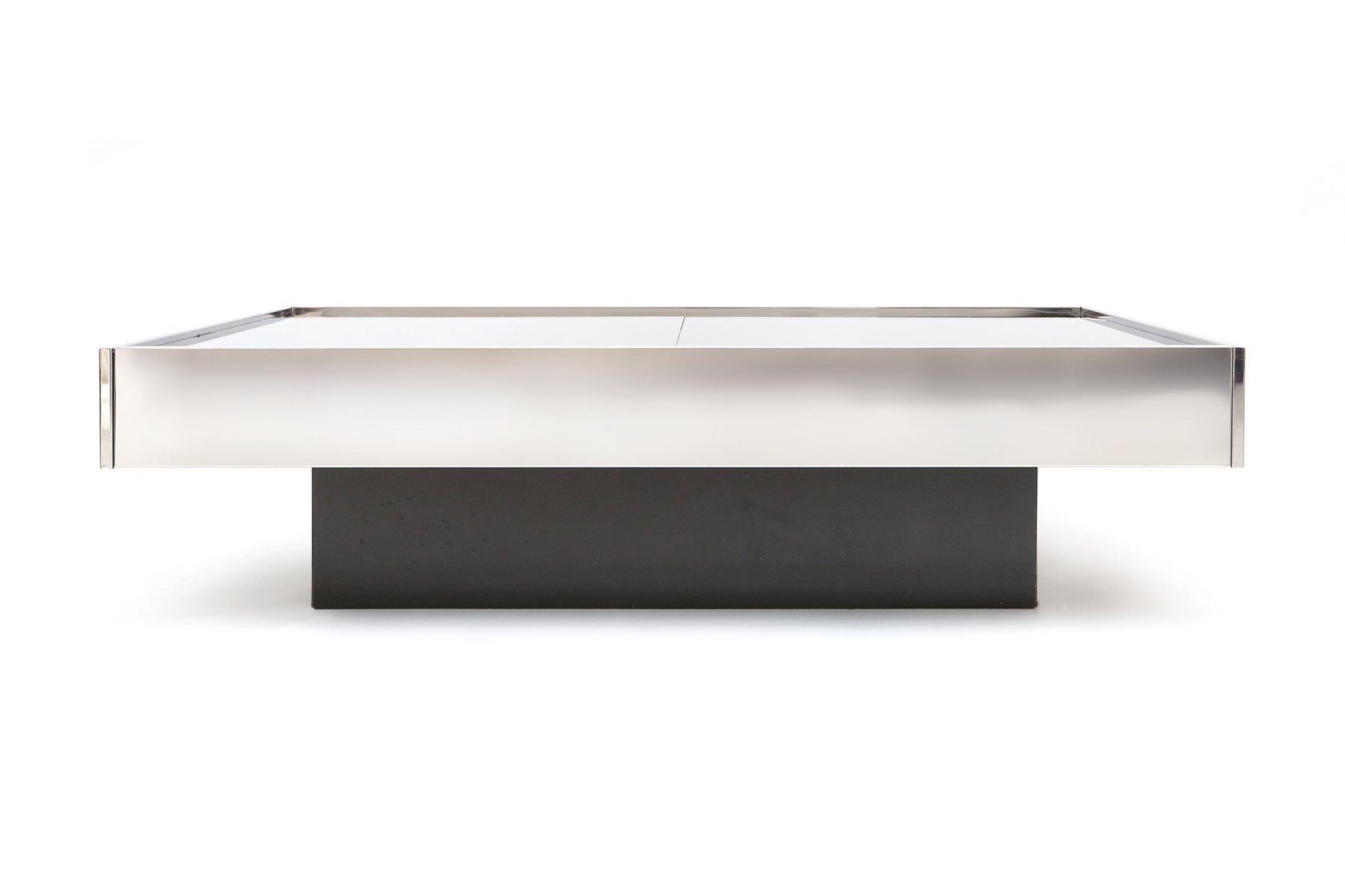 table basse vintage extensible par willy rizzo pour cidue en vente sur pamono. Black Bedroom Furniture Sets. Home Design Ideas