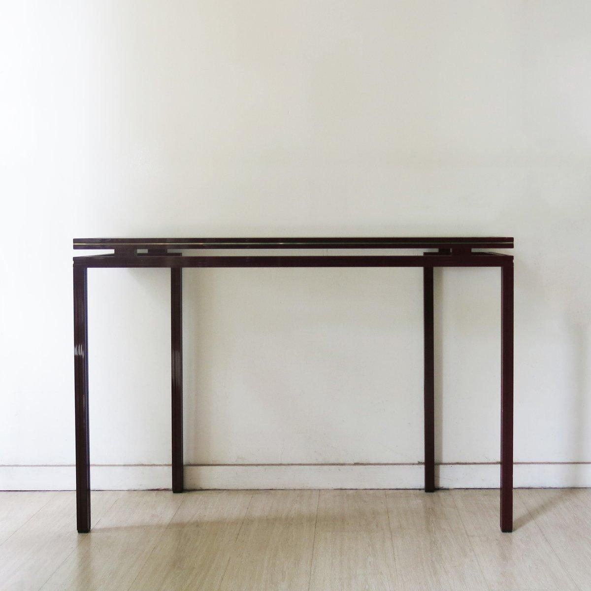 franz sische glas konsole von pierre vandel 1970er bei pamono kaufen. Black Bedroom Furniture Sets. Home Design Ideas