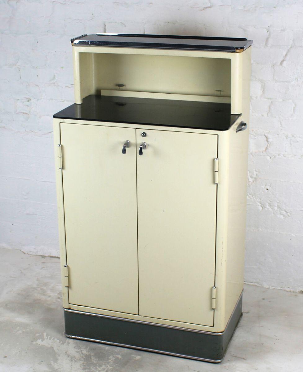 Antique Metal Dental Cabinet Vintage Dentist Cabinet With Black Glass Top For Sale At Pamono
