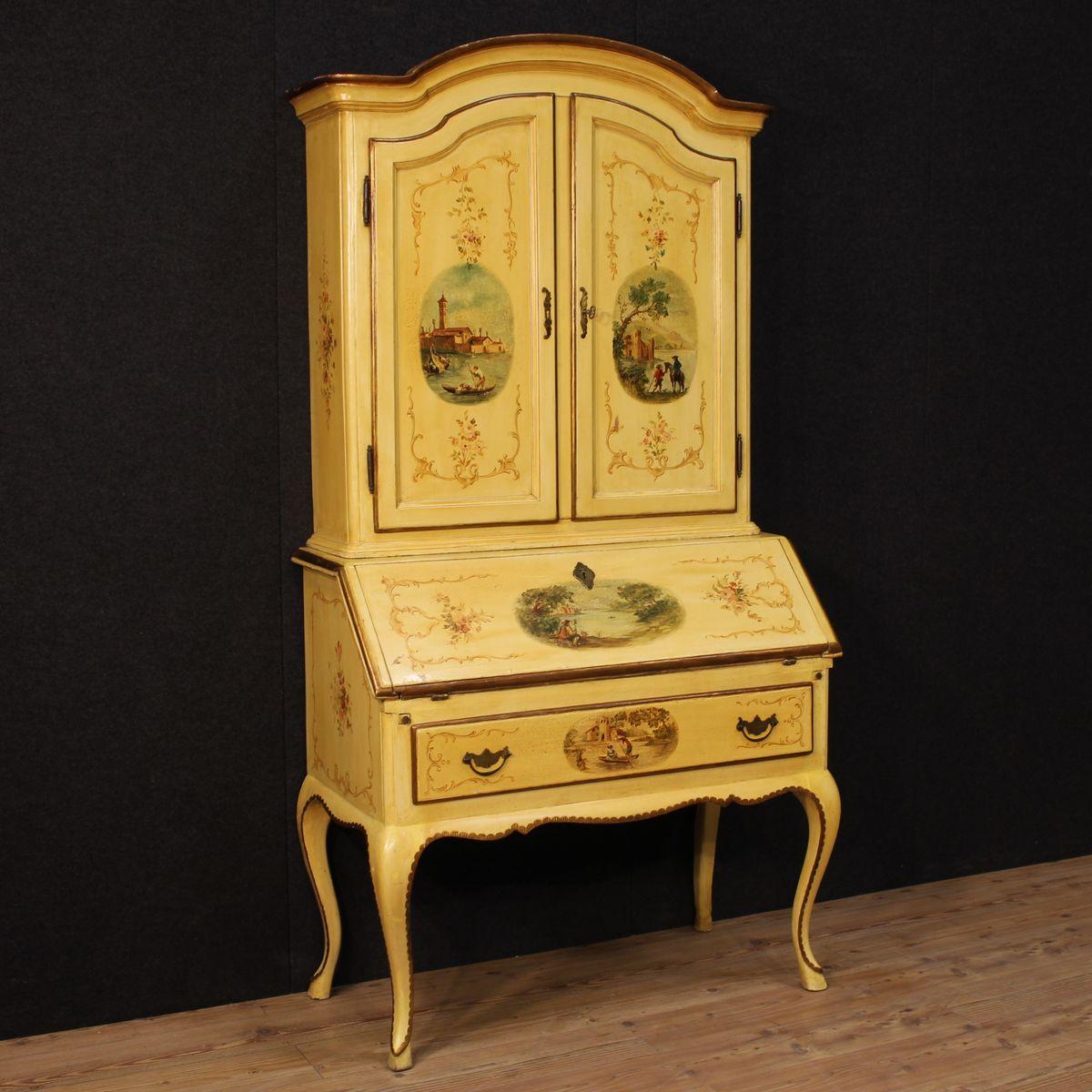 italienischer lackierter holz sekret r bei pamono kaufen. Black Bedroom Furniture Sets. Home Design Ideas