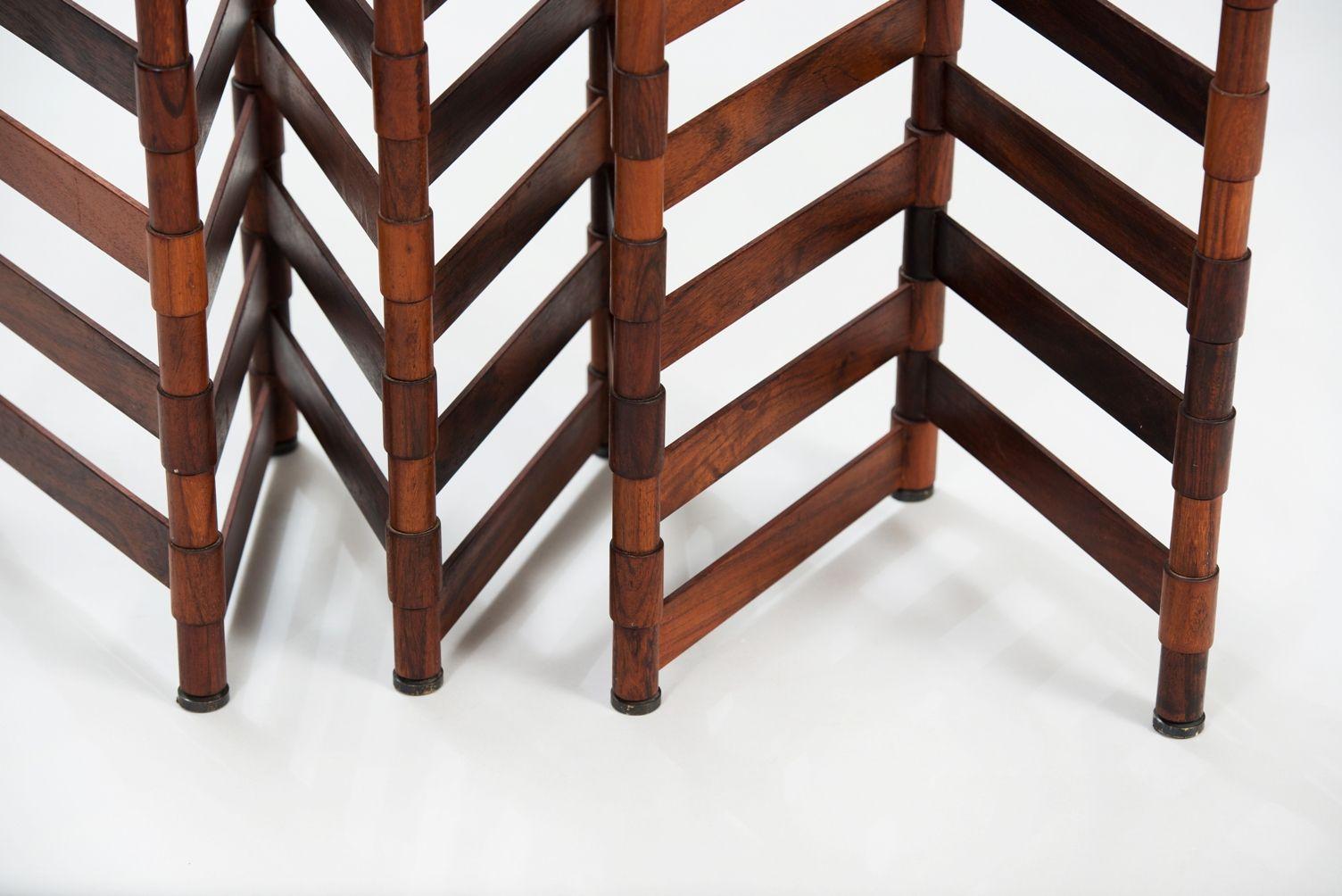 paravent vintage pliable en palissandre par tito agnoli italie en vente sur pamono. Black Bedroom Furniture Sets. Home Design Ideas