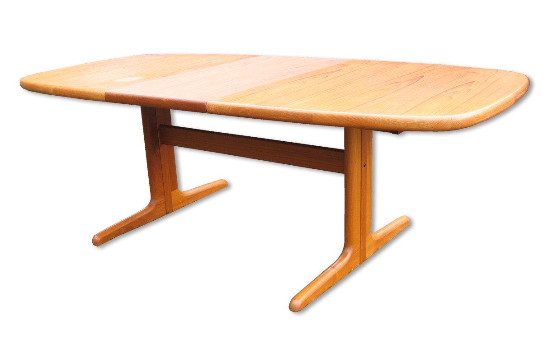 d nischer ovaler ausziehbarer esstisch aus teak von skovby 1970er bei pamono kaufen. Black Bedroom Furniture Sets. Home Design Ideas
