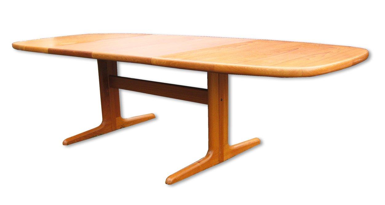 Danish Extendable Oval Teak Dining Table from Skovby 1970s for