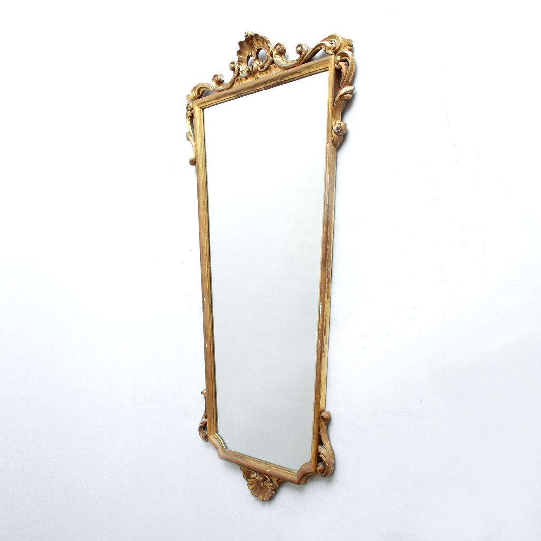 Grand miroir avec cadre dor italie 1940s en vente sur for Grand miroir solde