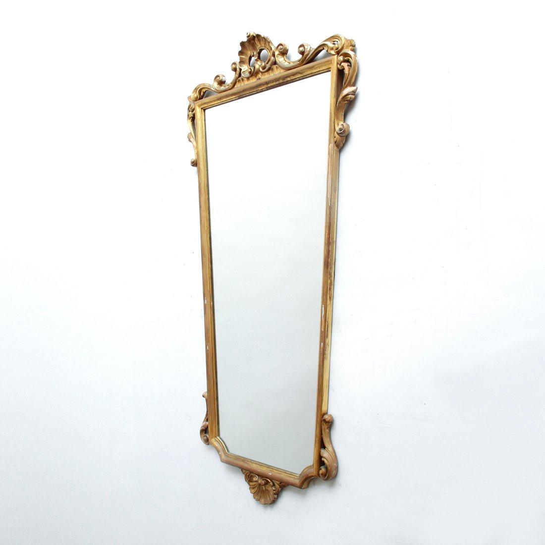 gro er italienischer spiegel mit vergoldetem rahmen 1940er bei pamono kaufen. Black Bedroom Furniture Sets. Home Design Ideas