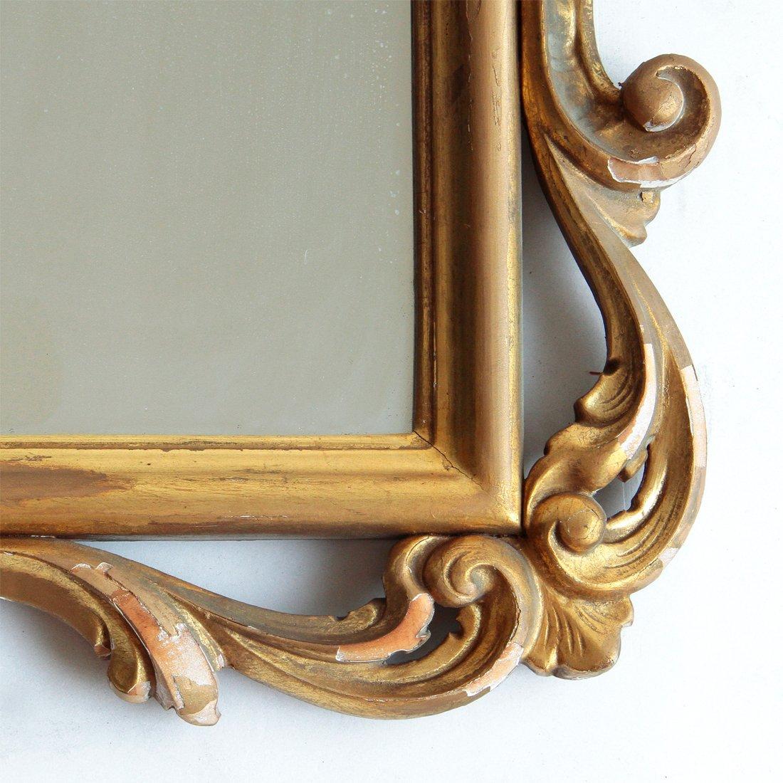 Grand miroir avec cadre dor italie 1940s en vente sur for Miroir cadre dore