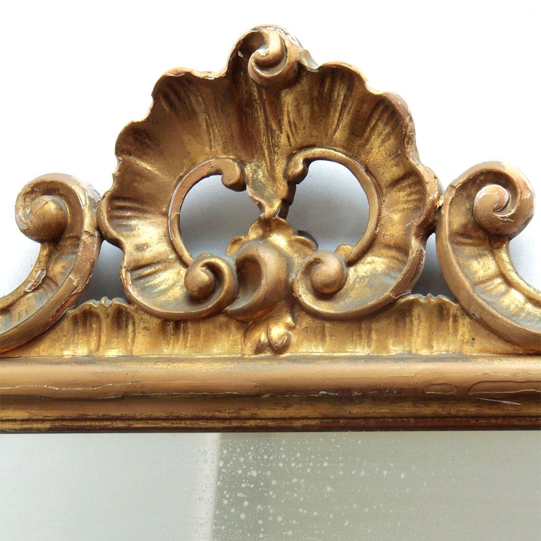 gro er italienischer spiegel mit vergoldetem rahmen 1940er bei. Black Bedroom Furniture Sets. Home Design Ideas