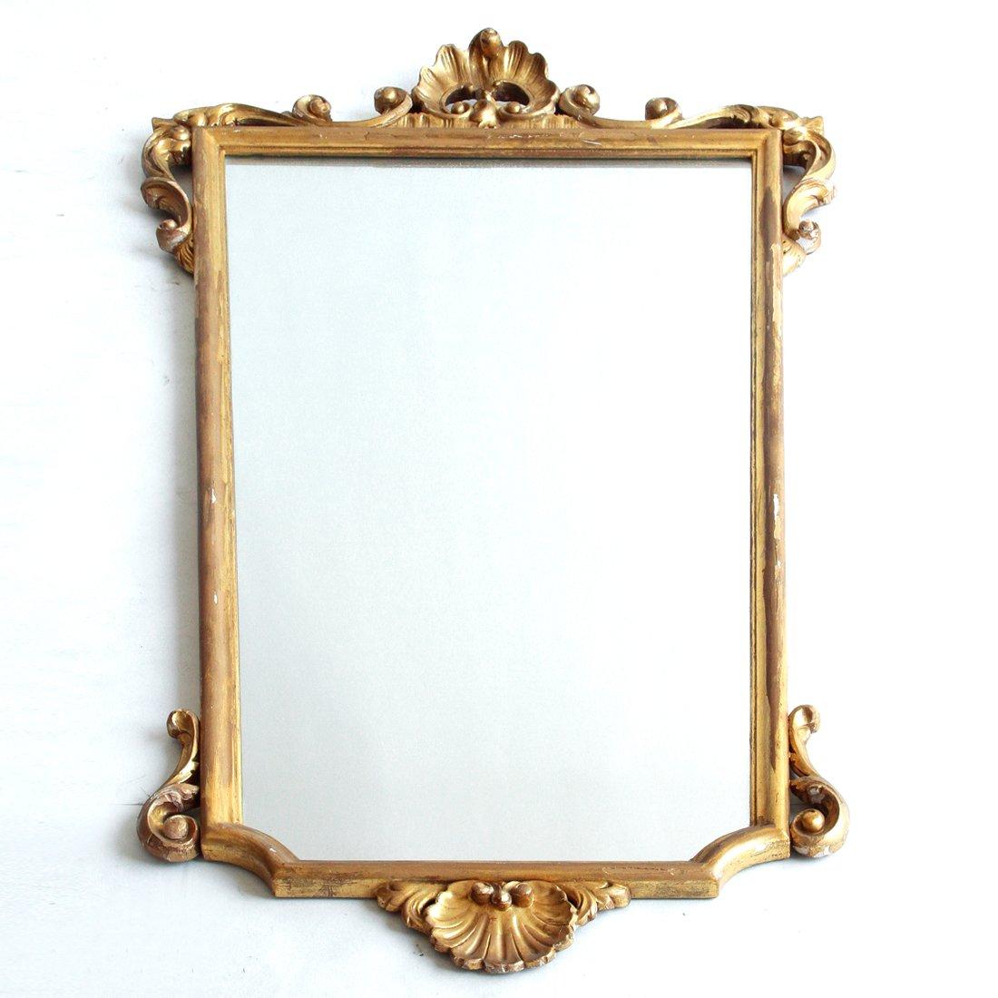 Grand miroir avec cadre dor italie 1940s en vente sur for Miroir cadre