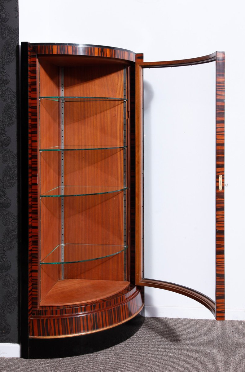Corner Exhibition Stands Prices : French art deco corner display cabinets set of