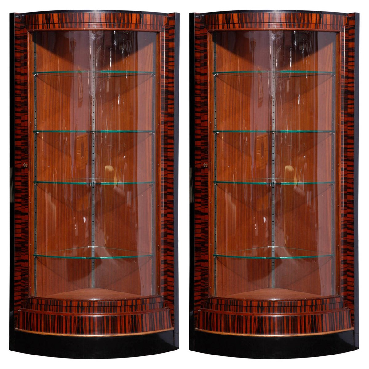 French Art Deco Corner Display Cabinets, 1935, Set of 2 for sale ...