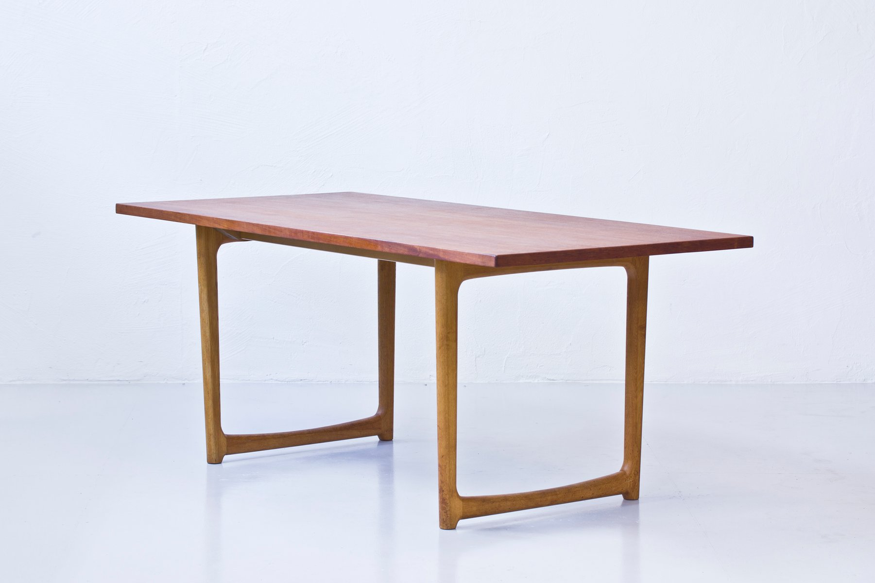 Danish Oak And Teak Dining Table For Sale At Pamono