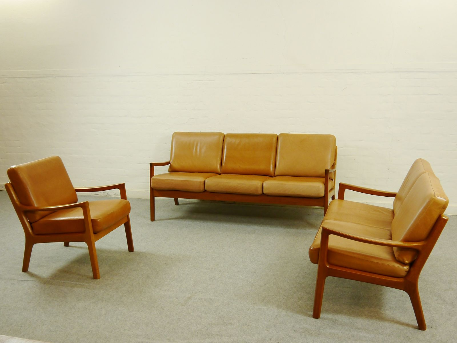 Senator living room suite by ole wanscher for cado set of for Living room suites for sale