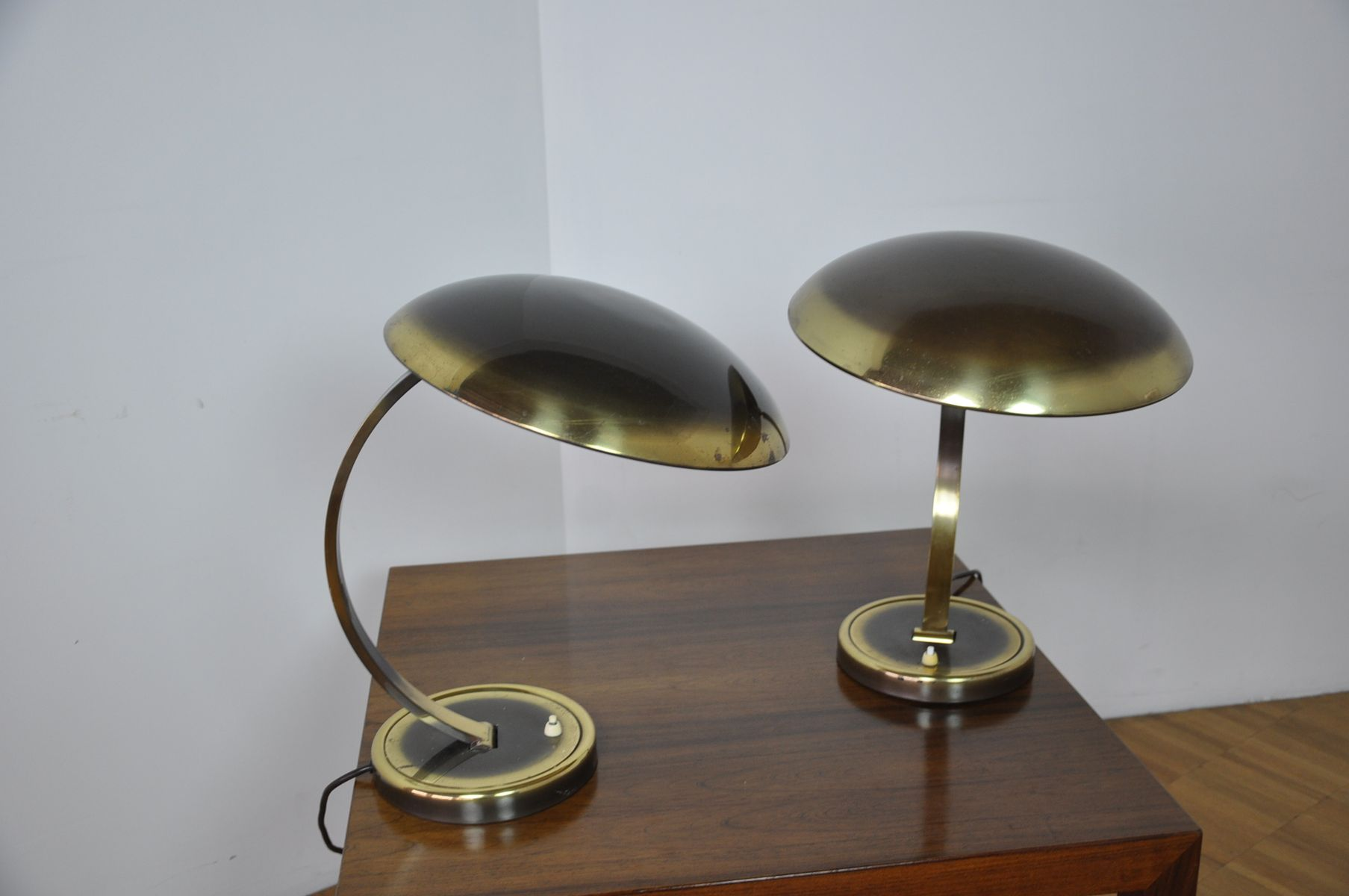 german brass desk lamp by christian dell for kaiser idell 1950s for sale at pamono. Black Bedroom Furniture Sets. Home Design Ideas