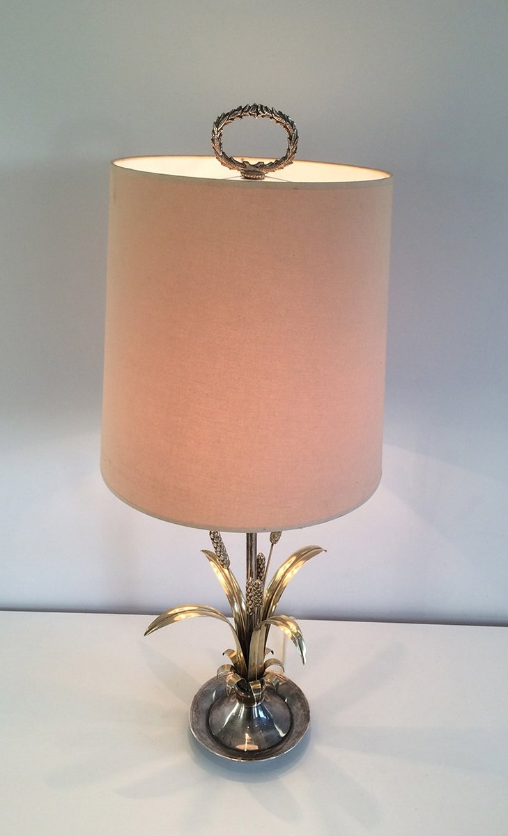 Silver plated brass table lamp 1940s for sale at pamono for Archimoon k table lamp