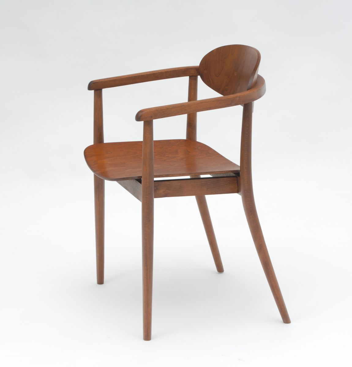 Wooden chairs with armrest - Czech Wooden Chairs With Armrests From Ton 1965 Set Of 2