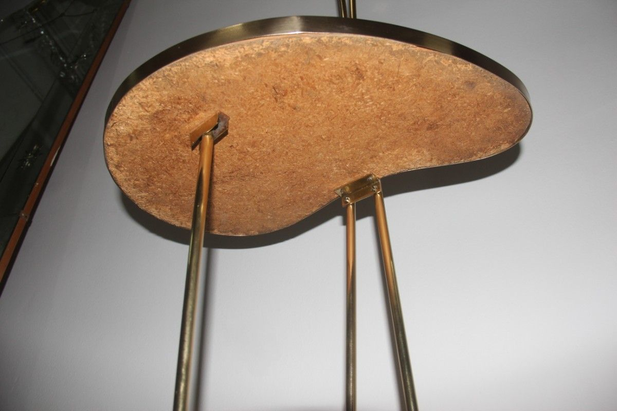 italienische stehlampe mit integriertem tisch von stilnovo. Black Bedroom Furniture Sets. Home Design Ideas