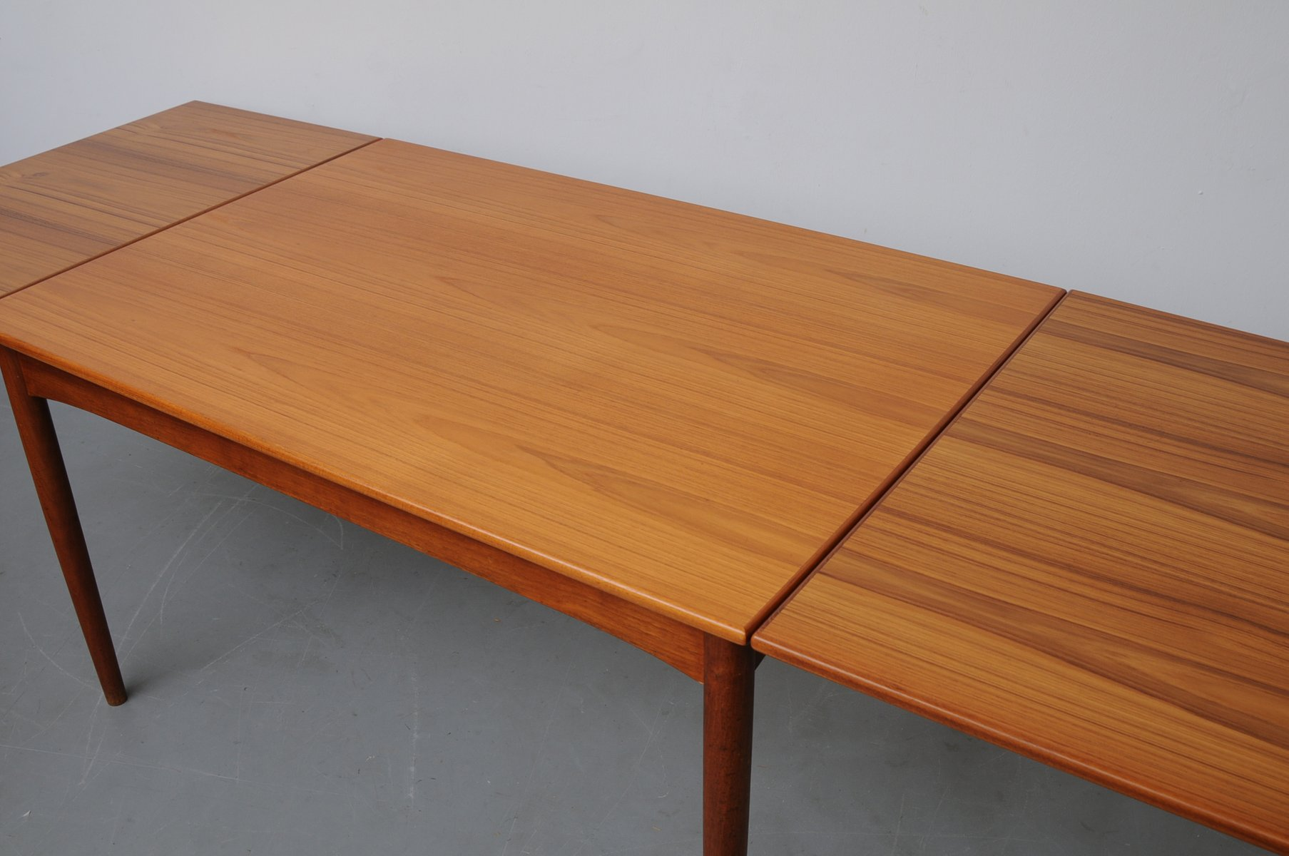 Danish Modern Dining Table Danish Modern Teak Extendable Dining Table For Sale At Pamono