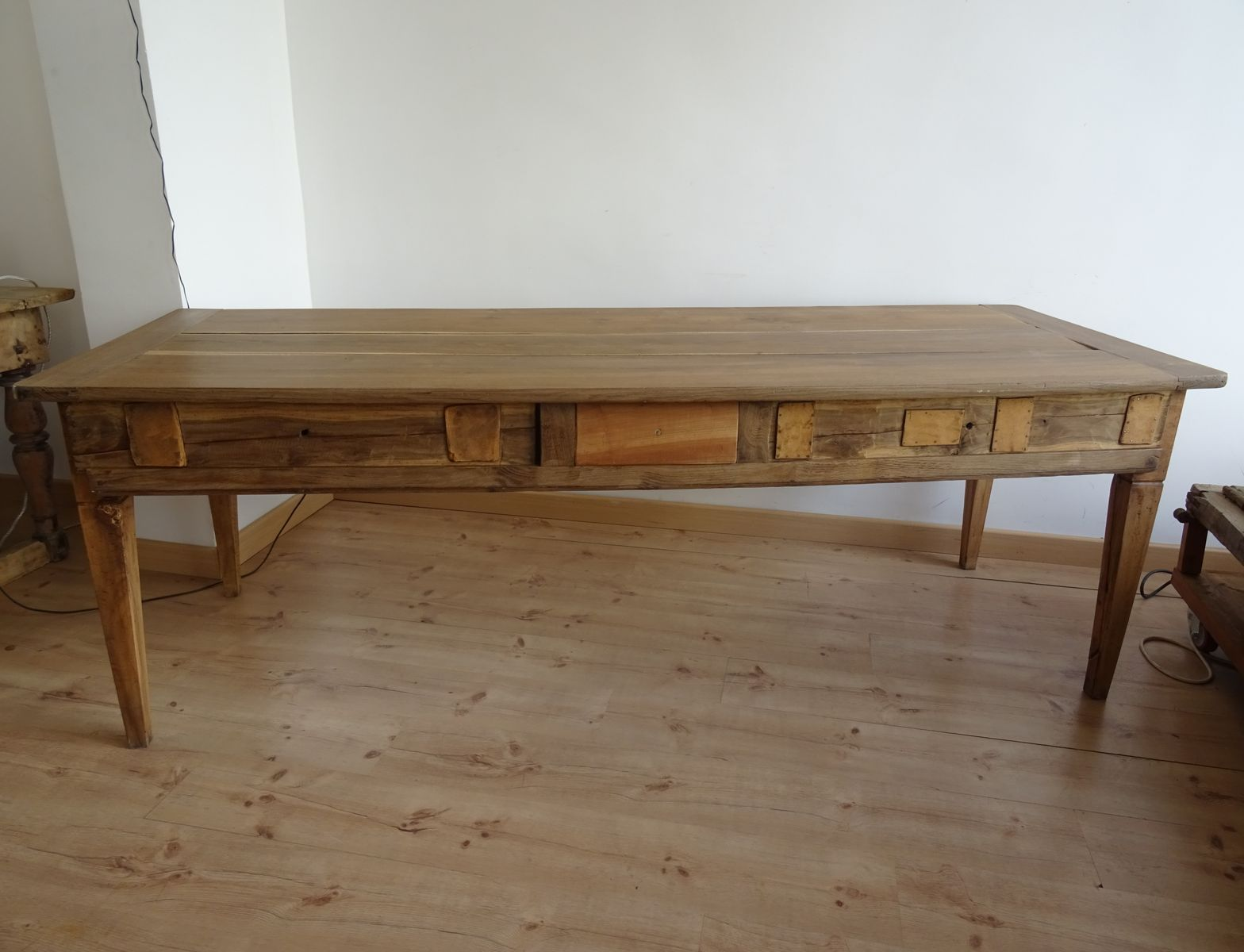 Vintage French Oak Country Dining Table For Sale At Pamono