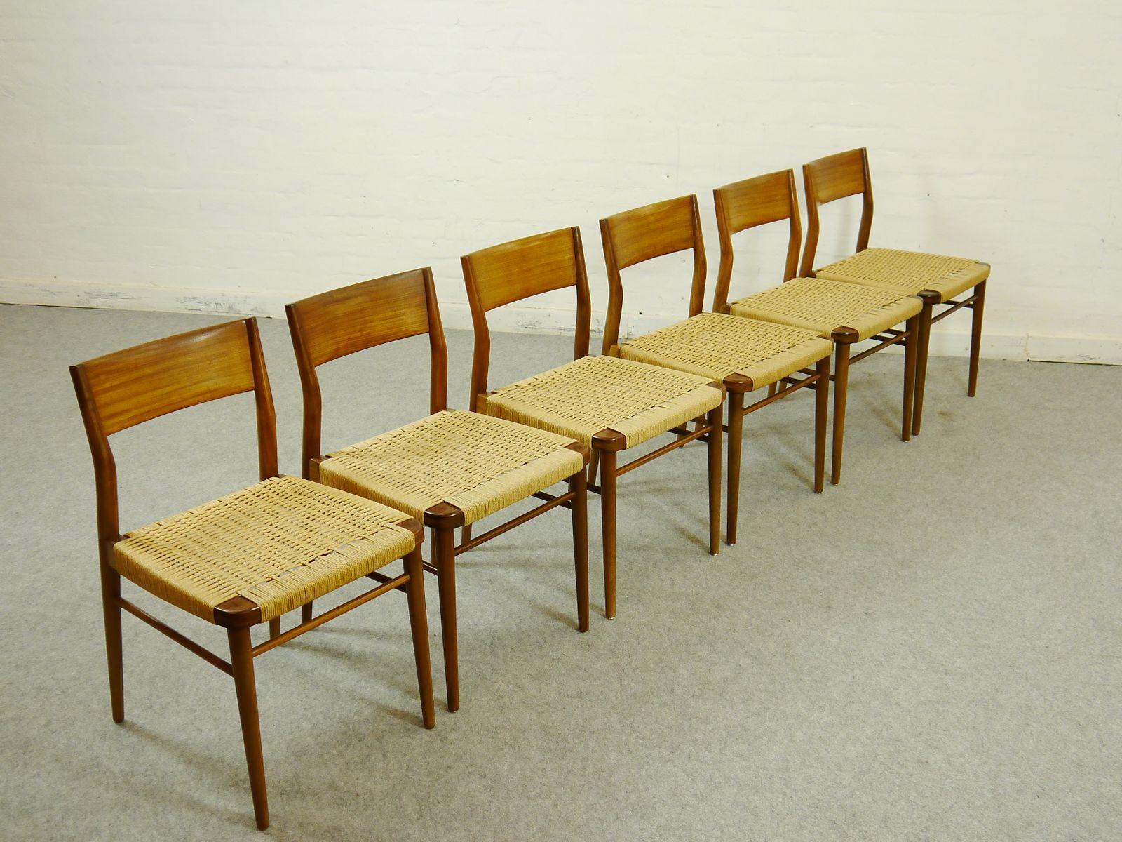 Chaises de salon mid century par georg leowald pour wilkhahn ...