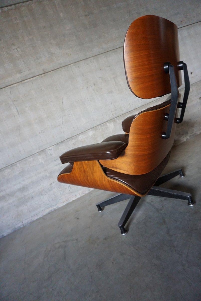 American model 670 walnut aluminium and leather swivel for Eames chair nachbau deutschland