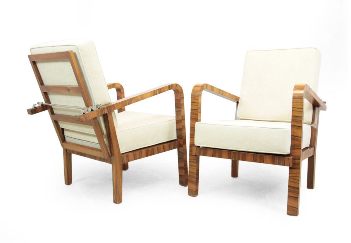 set de salon art d co en noyer 1930s en vente sur pamono. Black Bedroom Furniture Sets. Home Design Ideas