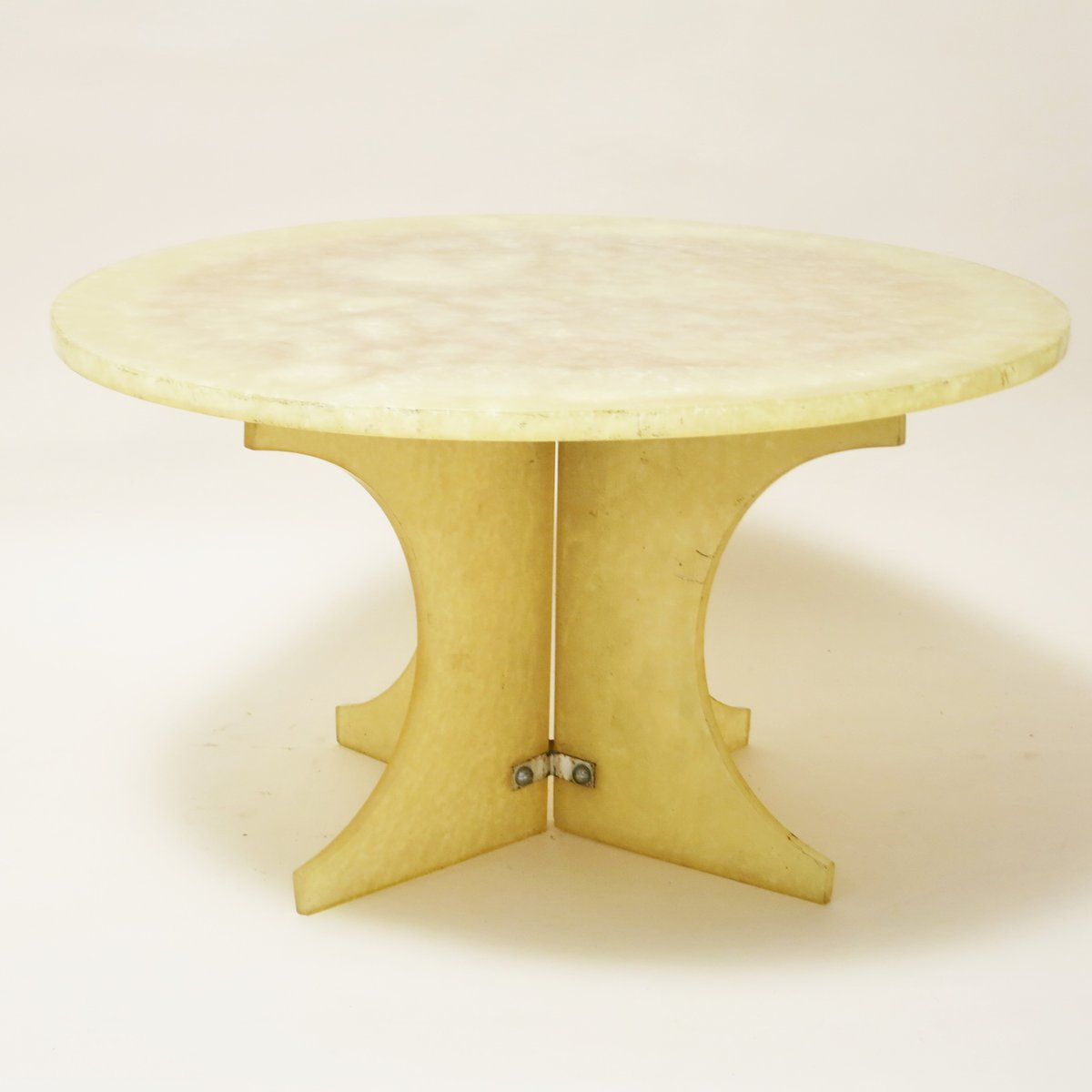 French Pale Yellow Resin Coffee Table 1970s For Sale At Pamono