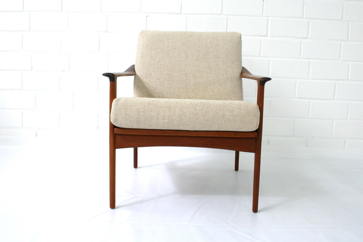 Mid century danish teak lounge chair by ib kofod larsen for selig for sale at pamono - Selig z chair for sale ...